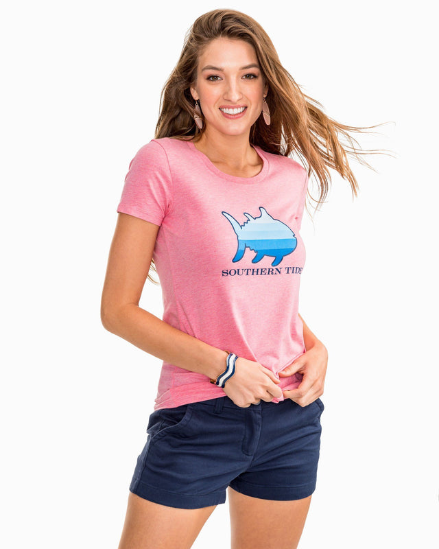 Skipjack Gradient Graphic Heather T-Shirt | Southern Tide