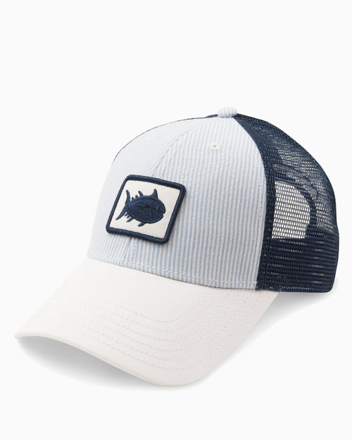 Women's Skipjack Patch Seersucker Trucker Hat | Southern Tide