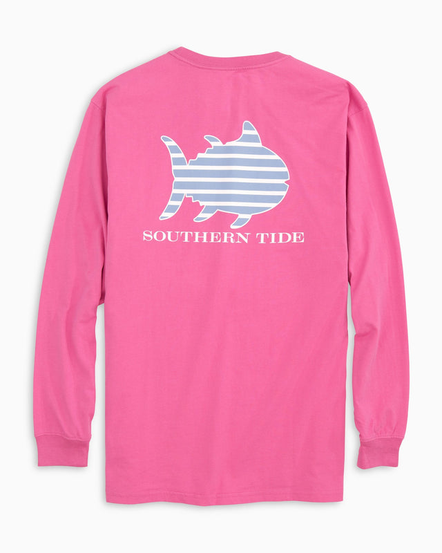 Stripe Skipjack Long Sleeve Pocket T-shirt | Southern Tide