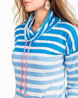 Striped Scuba Funnel Neck Pullover | Southern Tide