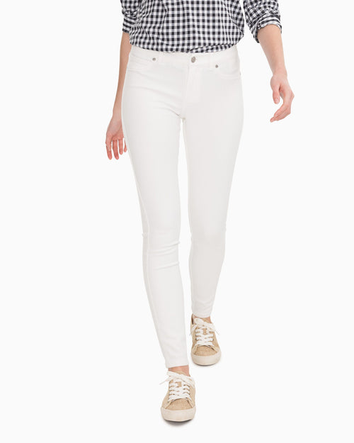 White Stretch Resort Skinny Jean | Southern Tide