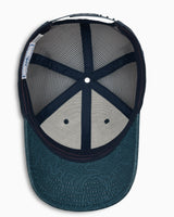 The front view of the Men's ST Terrain Trucker Hat by Southern Tide