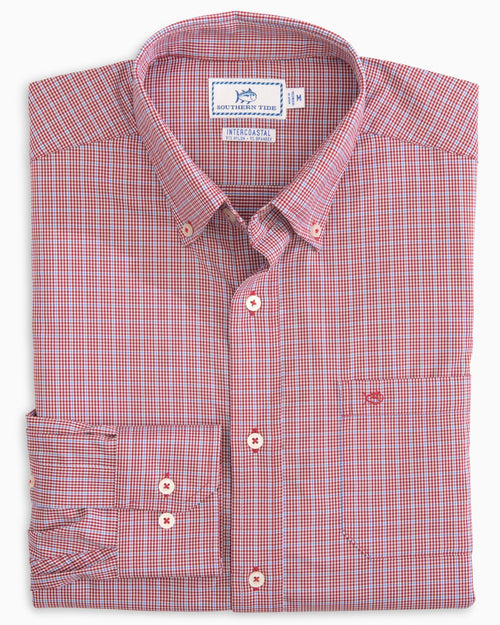 Staysail Gingham Intercoastal Performance Sport Shirt | Southern Tide