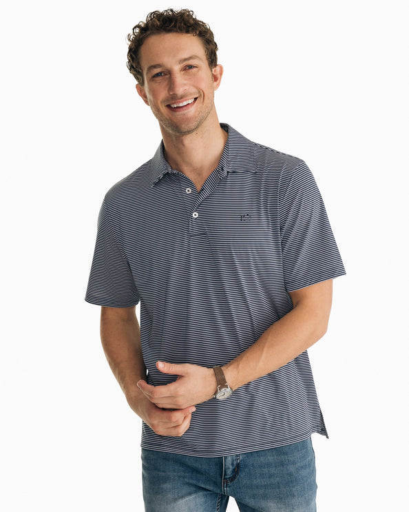 Driver Striped brrr Performance Polo Shirt