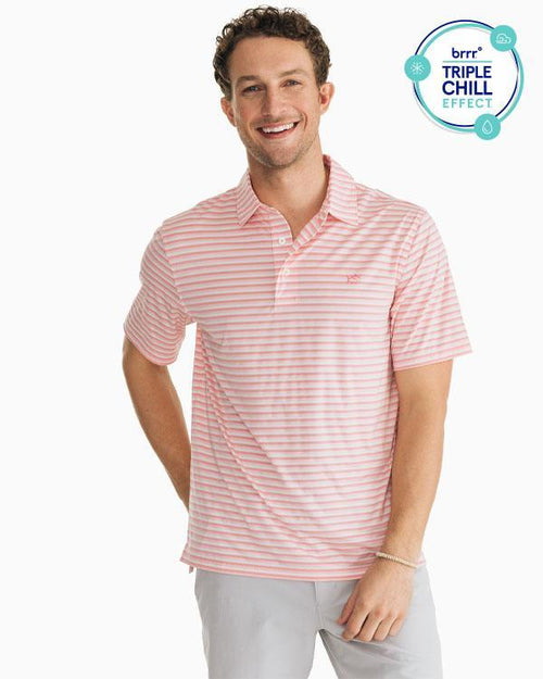 Driver Striped brrr® Performance Polo Shirt | Southern Tide
