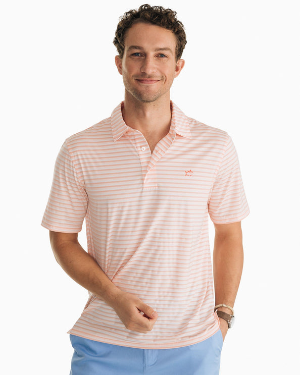 Striped Driver brrr® Performance Polo Shirt