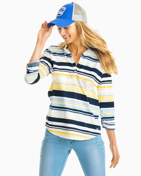 Striped Hadley Intercoastal Performance Popover