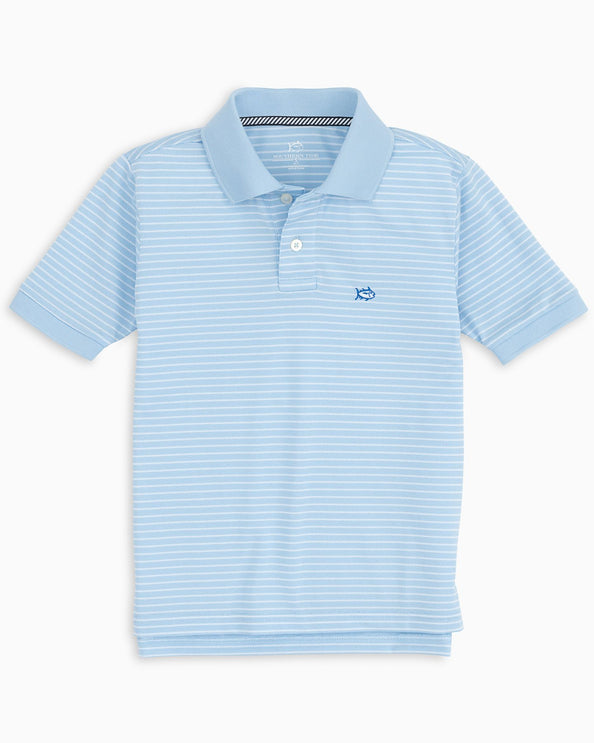 Boys Striped Jack Performance Polo Shirt