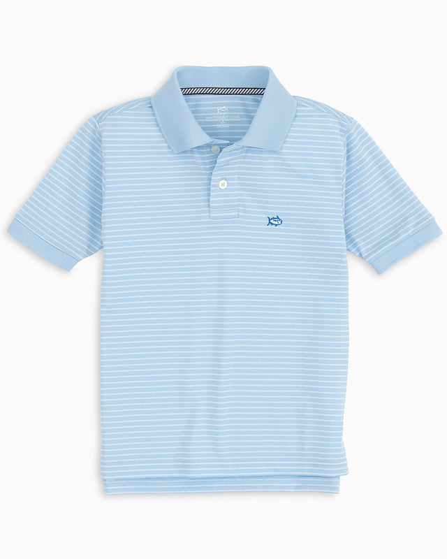 Boys Striped Jack Performance Striped Polo Shirt | Southern Tide