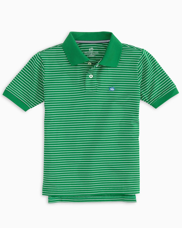 Boys Striped Jack Performance Striped Polo Shirt