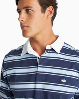 Rugby Striped Long Sleeve Polo Shirt | Southern Tide