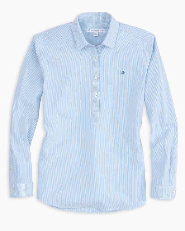 Striped Oxford Hadley Popover
