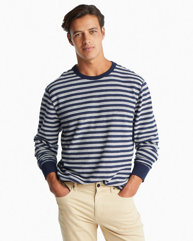 Burgee Striped Reversible Upper Deck Pullover Sweater | Southern Tide