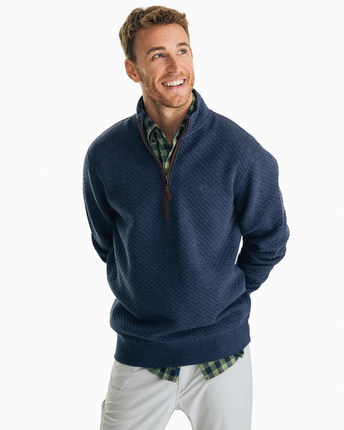 Sundown Quilted Quarter Zip Pullover | Southern Tide