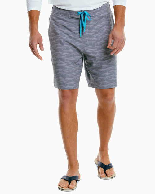 The front view of the Men's Swordfish Swim Trunk by Southern Tide