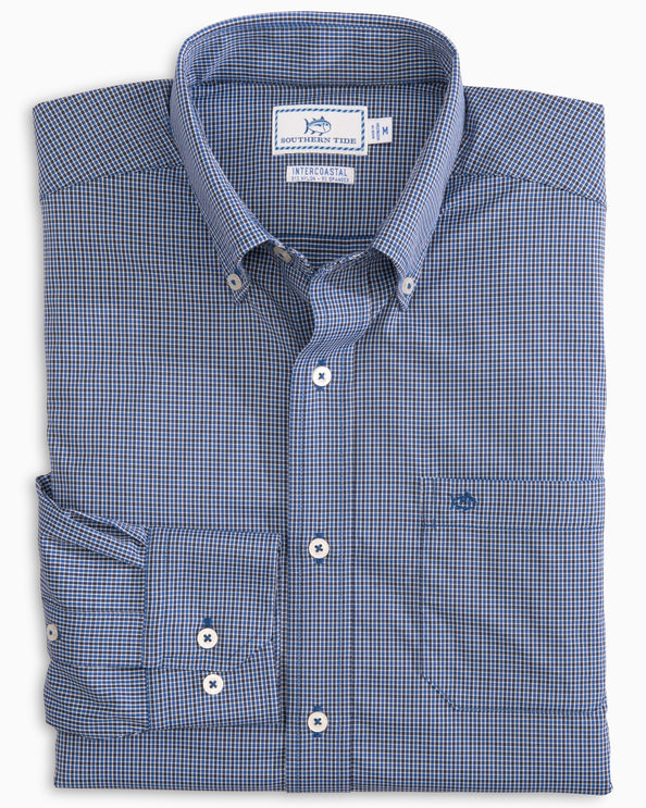 Taffrail Gingham Intercoastal Performance Sport Shirt