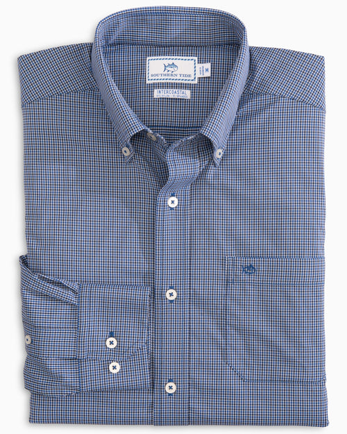 Taffrail Gingham Intercoastal Performance Sport Shirt | Southern Tide
