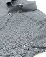 The front view of the Men's Black Baylor Gingham Button Down Shirt by Southern Tide