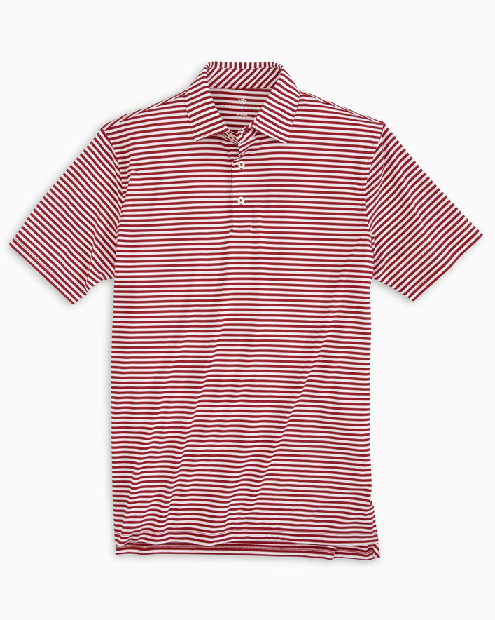 Team Colors Striped Performance Polo Shirt