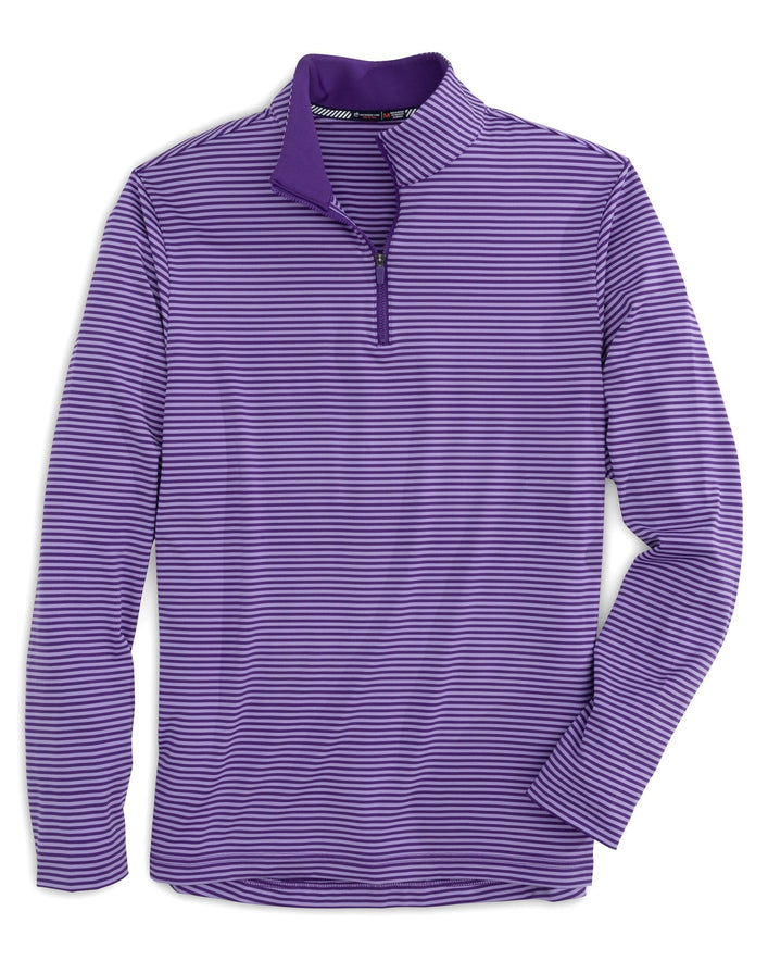 Team Colors Tonal Striped Quarter Zip Pullover