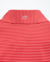 The front view of the Men's Red Georgia Bulldogs Striped Quarter Zip Pullover by Southern Tide