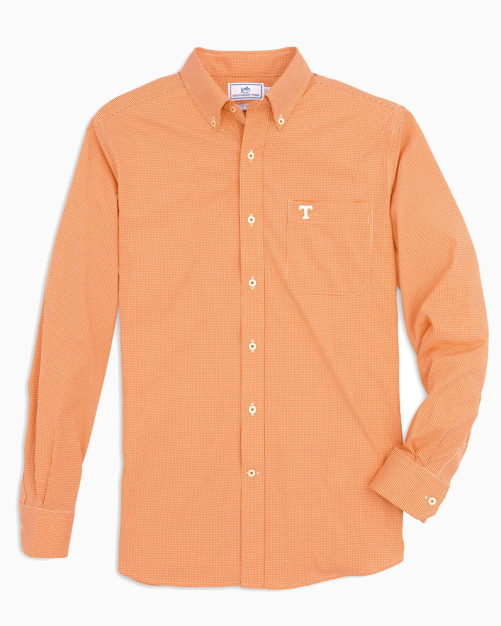Tennessee Vols Gingham Button Down Shirt