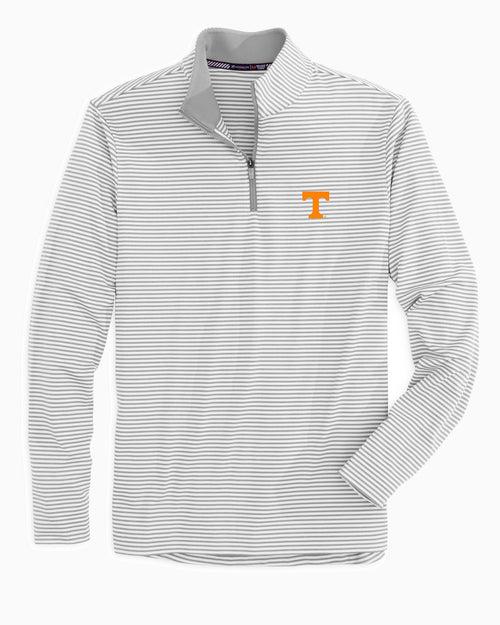 Tennessee Vols Striped Quarter Zip Pullover | Southern Tide