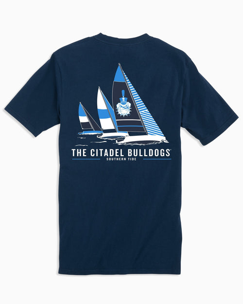 Citadel Bulldogs Sailboat T-Shirt | Southern Tide