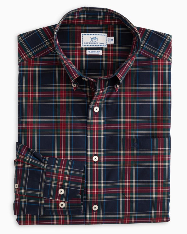 Tidings Plaid Button Down Shirt