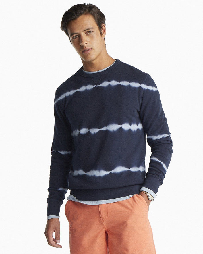 Tie Dye Striped Upper Deck Pullover Sweater