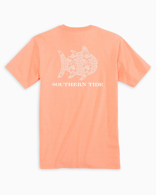 The back view of the Women's Orange Tropical Skipjack T-Shirt by Southern Tide
