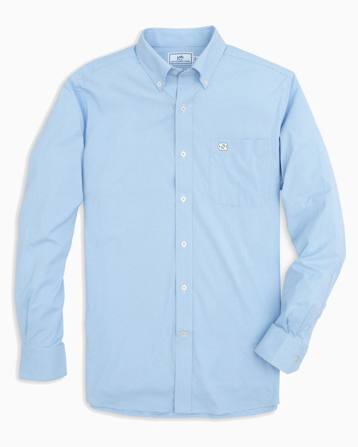 UNC Tar Heels Gingham Button Down Shirt