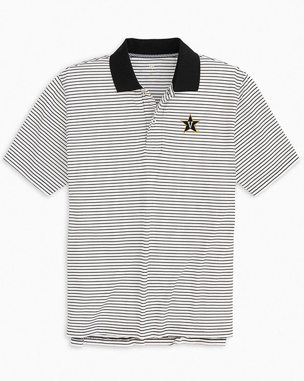 Vanderbilt Commodores Pique Striped Polo Shirt