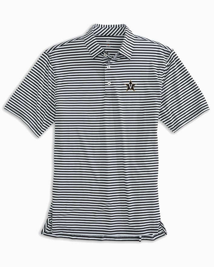 Vanderbilt Commodores Striped Polo Shirt