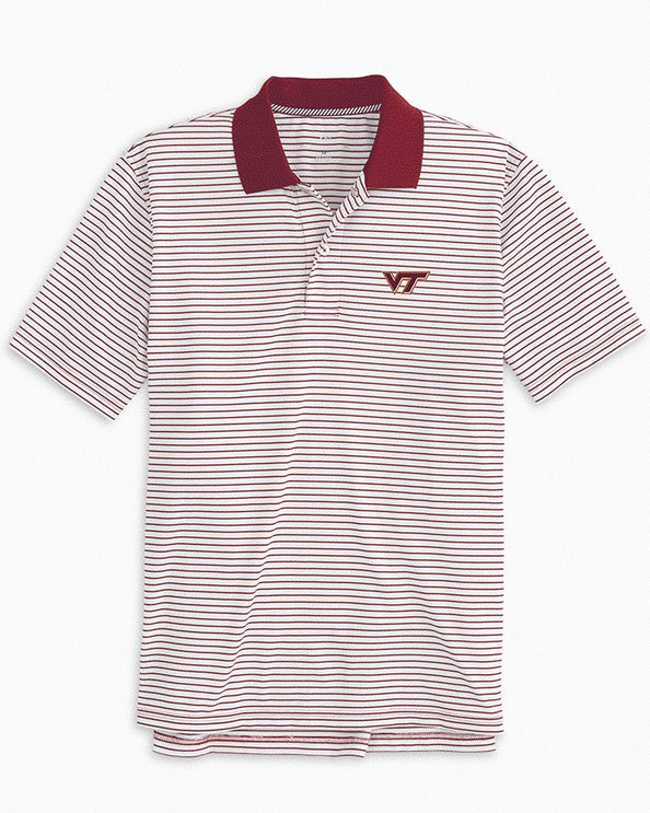 Virginia Tech Hokies Pique Striped Polo Shirt
