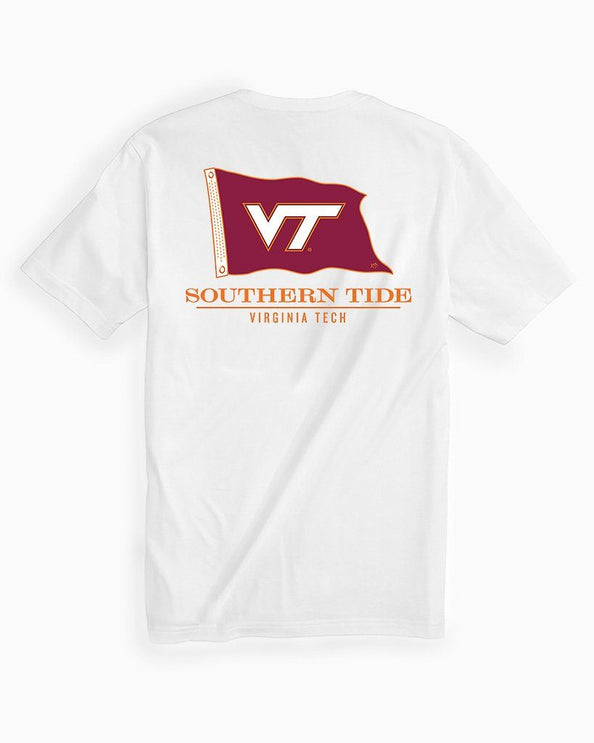 Virginia Tech Hokies Short Sleeve Flag T-Shirt
