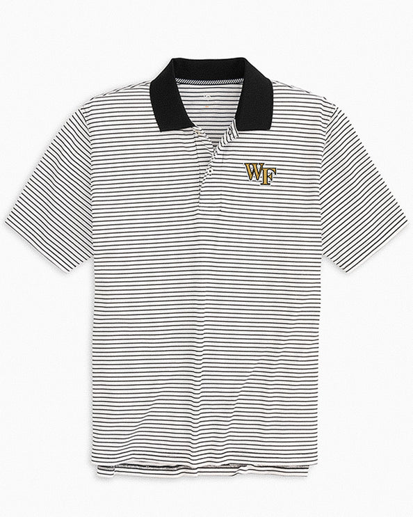 Wake Forest Demon Deacons Pique Striped Polo Shirt