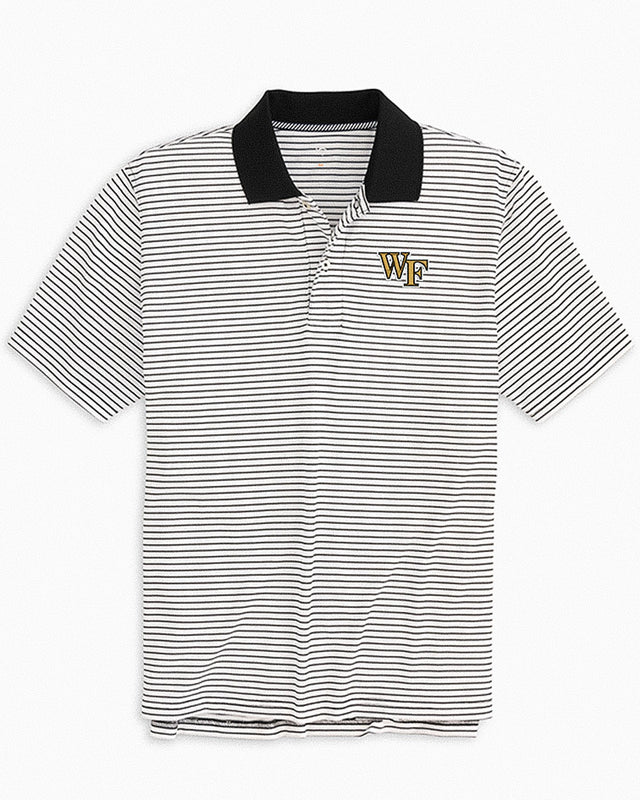 Wake Forest Demon Deacons Pique Striped Polo Shirt | Southern Tide