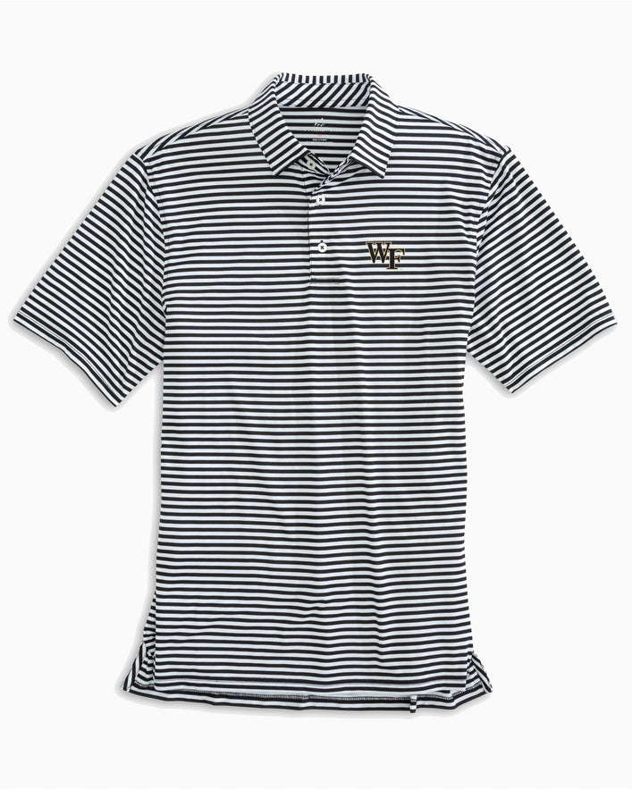 Wake Forest Striped Polo Shirt