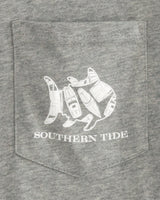 Wave Pattern Long Sleeve Hoodie T-Shirt | Southern Tide