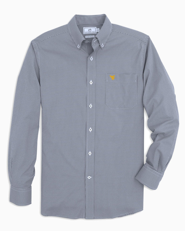 West Virginia Gingham Button Down Shirt