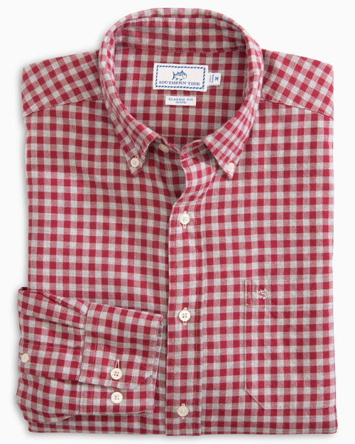 Wharf Heathered Gingham Button Down Shirt | Southern Tide