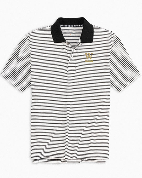 Wofford Pique Striped Polo Shirt
