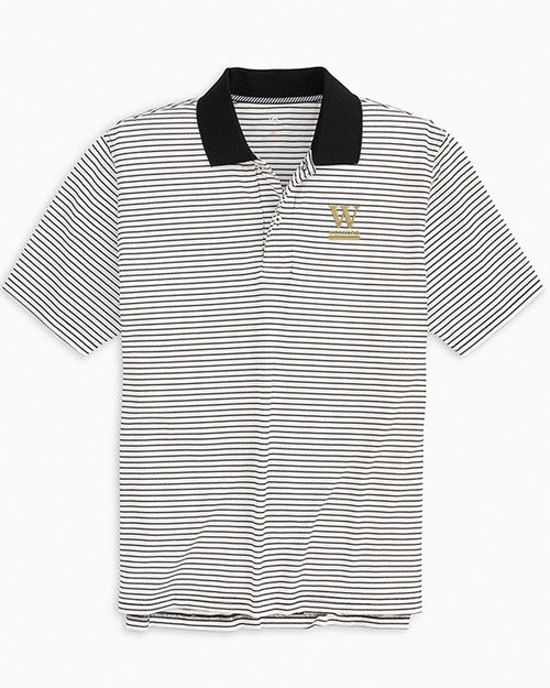 Wofford Pique Striped Polo Shirt | Southern Tide