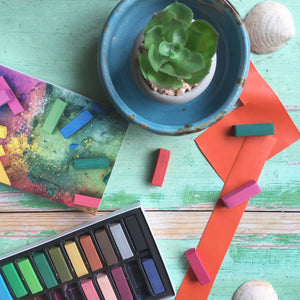 January 'Paint the Blues Away' Cruelty-free Art Subscription Box