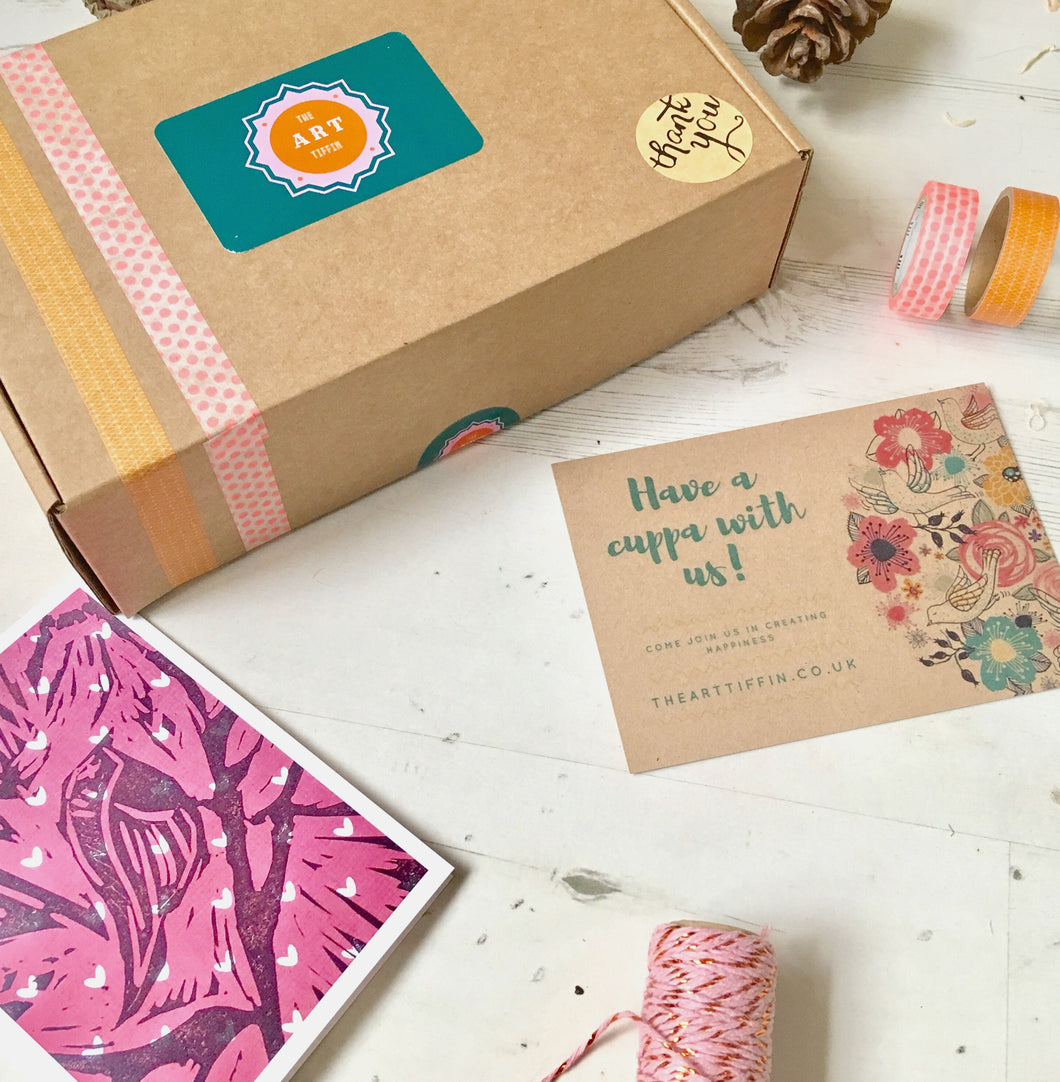 Gift Wrapped One-off Ethical Art Tiffin Box