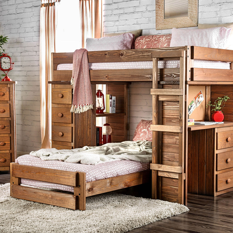 Furniture of America BECKFORD TWIN/TWIN LOFT BED