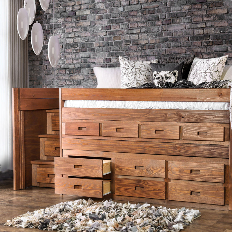 Furniture of America CLEO TWIN CAPTAIN BED