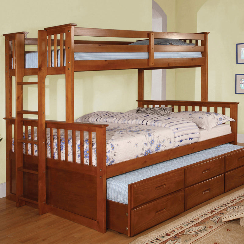 Furniture of America UNIVERSITY I TWIN/FULL BUNK BED