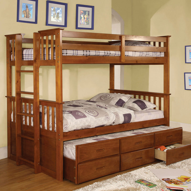 Furniture of America UNIVERSITY II TWIN/TWIN BUNK BED
